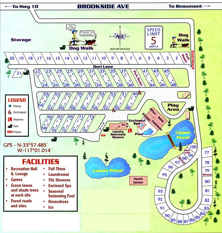 Cherry Valley Lakes - Resort Park Map