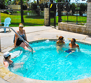Cherry Valley Lakes Resort - Enjoying the Jacuzzi!